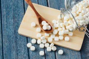 Sterke botten en tanden met calciumsupplementen