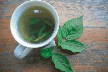 frambozenblad thee helpt tegen kramp in de baarmoeder